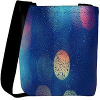 Snoogg Lights Through Wet Glass Designer Womens Carry Around Cross Body Tote Handbag Sling Bags RPC-7040-SLTOBAG