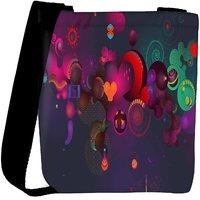 Snoogg Funny Hearts Designer Womens Carry Around Cross Body Tote Handbag Sling Bags RPC-7367-SLTOBAG