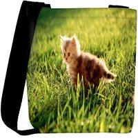 Snoogg Baby Cat Designer Womens Carry Around Cross Body Tote Handbag Sling Bags RPC-9491-SLTOBAG