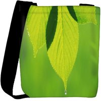 Snoogg Leave Dew Drop Designer Womens Carry Around Cross Body Tote Handbag Sling Bags RPC-9556-SLTOBAG