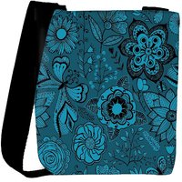Snoogg Abstract Floral Background Designer Protective Back Case Cover For Oneplus 3 Designer Womens Carry Around Cross Body Tote Handbag Sling Bags RPC-3744-SLTOBAG