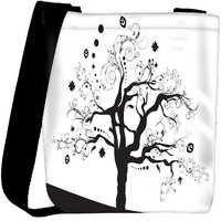 Snoogg Abstract Illustration Of A Tree With Lots Of Leaves Designer Protective Back Case Cover For Oneplus 3 Designer Womens Carry Around Cross Body Tote Handbag Sling Bags RPC-3774-SLTOBAG