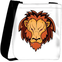 Snoogg Lion Mascot Designer Protective Back Case Cover For Oneplus 3 Designer Womens Carry Around Cross Body Tote Handbag Sling Bags RPC-4737-SLTOBAG
