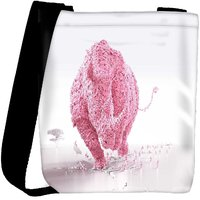 Snoogg Pink Rhino Designer Womens Carry Around Cross Body Tote Handbag Sling Bags RPC-7423-SLTOBAG