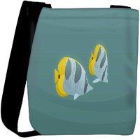 Snoogg Tiger Fish Designer Womens Carry Around Cross Body Tote Handbag Sling Bags RPC-8836-SLTOBAG