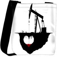 Snoogg White Hearts Designer Womens Carry Around Cross Body Tote Handbag Sling Bags RPC-8864-SLTOBAG
