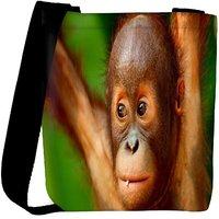 Snoogg Baby Chimpanese Designer Womens Carry Around Cross Body Tote Handbag Sling Bags RPC-8906-SLTOBAG