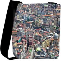 Snoogg Abstract Buildings Designer Womens Carry Around Cross Body Tote Handbag Sling Bags RPC-9110-SLTOBAG