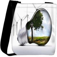 Snoogg Tree In A Bulb Designer Womens Carry Around Cross Body Tote Handbag Sling Bags RPC-9602-SLTOBAG