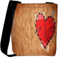 Snoogg Broken Heart Designer Womens Carry Around Cross Body Tote Handbag Sling Bags RPC-9610-SLTOBAG