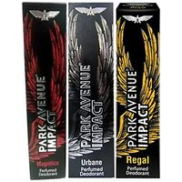 Park Avenue Impact Magnifico,Urbane,Regal prefumed Deodorants pack of 3 for Men Combo Set (Set of 3)