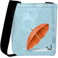 Snoogg Abstract Rainy Season Background With Waterdrops And Clouds Designer Protective Back Case Cover For Oneplus 3 Designer Womens Carry Around Cross Body Tote Handbag Sling Bags RPC-3796-SLTOBAG