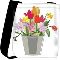 Snoogg Abstract Spring Illustration With Lots Of Flowers Designer Protective Back Case Cover For Oneplus 3 Designer Womens Carry Around Cross Body Tote Handbag Sling Bags RPC-3808-SLTOBAG