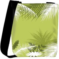 Snoogg Palm Tree With Flower Designer Womens Carry Around Cross Body Tote Handbag Sling Bags RPC-4892-SLTOBAG