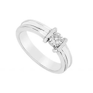 LoveBrightJewelry Classy Diamond Ring 14K White Gold-0.25 CT