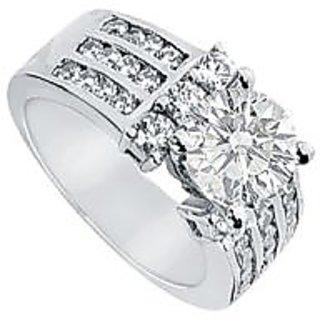 LoveBrightJewelry Diamond & Platinum Engagement Ring-2.00 CT