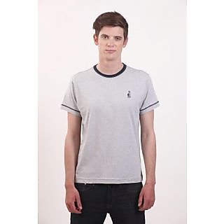 Smokestack Cotton Round Neck Half Sleeves Men's T-Shirt (Grey)