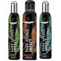 Park Avenue Impact Magnifico,Sharp,Icon Prefumed Deodorants Pack Of 3 For Men Combo Set (Set Of 3)