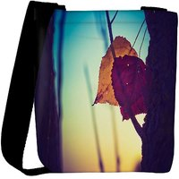 Snoogg Dry Leaves On Ground Designer Womens Carry Around Cross Body Tote Handbag Sling Bags RPC-7680-SLTOBAG