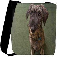 Snoogg Dog Shocking Face Designer Womens Carry Around Cross Body Tote Handbag Sling Bags RPC-8069-SLTOBAG