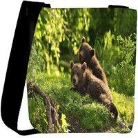 Snoogg Babies Bear Designer Womens Carry Around Cross Body Tote Handbag Sling Bags RPC-7763-SLTOBAG