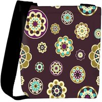 Snoogg Dark Pink Pattern Designer Womens Carry Around Cross Body Tote Handbag Sling Bags RPC-10463-SLTOBAG