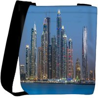 Snoogg Tall Buildings Designer Womens Carry Around Cross Body Tote Handbag Sling Bags RPC-8163-SLTOBAG