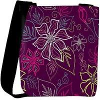 Snoogg Floral Sketch Pink Designer Womens Carry Around Cross Body Tote Handbag Sling Bags RPC-10549-SLTOBAG