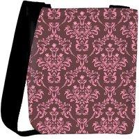 Snoogg Pink Pattern Designer Womens Carry Around Cross Body Tote Handbag Sling Bags RPC-10560-SLTOBAG