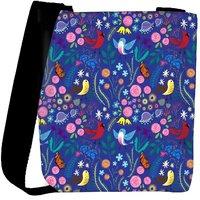 Snoogg Bird Floral Patterns Designer Protective Back Case Cover For Oneplus 3 Designer Womens Carry Around Cross Body Tote Handbag Sling Bags RPC-312-SLTOBAG