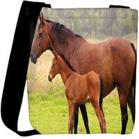 Snoogg Baby Horse Designer Womens Carry Around Cross Body Tote Handbag Sling Bags RPC-8605-SLTOBAG