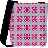 Snoogg Pink Pattern Designer Womens Carry Around Cross Body Tote Handbag Sling Bags RPC-10605-SLTOBAG