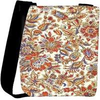 Snoogg Floral Pattern Cream Designer Protective Back Case Cover For Oneplus 3 Designer Womens Carry Around Cross Body Tote Handbag Sling Bags RPC-331-SLTOBAG