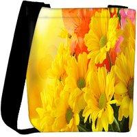 Snoogg Pink Flower Designer Womens Carry Around Cross Body Tote Handbag Sling Bags RPC-8246-SLTOBAG