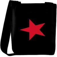 Snoogg Pink Star On Black Wall 2895 Designer Womens Carry Around Cross Body Tote Handbag Sling Bags RPC-2895-SLTOBAG