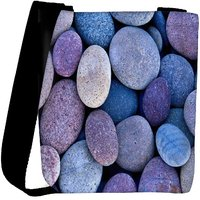 Snoogg Pebble Stone Beach Designer Protective Back Case Cover For Oneplus 3 Designer Womens Carry Around Cross Body Tote Handbag Sling Bags RPC-401-SLTOBAG