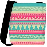 Snoogg Aztec Pink Designer Protective Back Case Cover For Oneplus 3 Designer Womens Carry Around Cross Body Tote Handbag Sling Bags RPC-3007-SLTOBAG