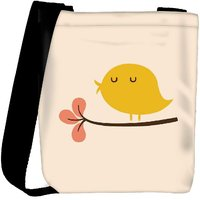 Snoogg Bird Life Minimal Designer Protective Back Case Cover For Oneplus 3 Designer Womens Carry Around Cross Body Tote Handbag Sling Bags RPC-3225-SLTOBAG
