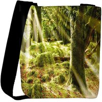 Snoogg Forest Covered With Grass Designer Womens Carry Around Cross Body Tote Handbag Sling Bags RPC-8345-SLTOBAG