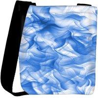 Snoogg White And Blue Smoke 2430 Designer Womens Carry Around Cross Body Tote Handbag Sling Bags RPC-2430-SLTOBAG