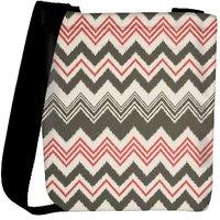 Snoogg Grey Pink Waves 2499 Designer Womens Carry Around Cross Body Tote Handbag Sling Bags RPC-2499-SLTOBAG