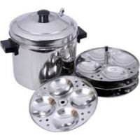 Cookware Under Rs.499 | MAHAVIR INDUCTION BASE IDLY COOKER -12 IDLIES(3 Plates) By ShopClues @ Rs.329