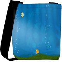 Snoogg Colorful Fish Designer Womens Carry Around Cross Body Tote Handbag Sling Bags RPC-9654-SLTOBAG