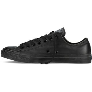 Converse Mens Low Top Mono Black Canvas Sneakers