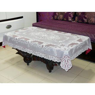 Katwa Clasic - 36 x 54 Inches Fancy Lace Vinyl Tablecloth (Maroon)