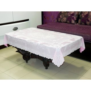 Katwa Clasic - 36 x 54 Inches Fancy Lace Vinyl Tablecloth (Pink)