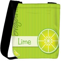 Snoogg Bright Organic Lime Card In Vector Format Designer Womens Carry Around Cross Body Tote Handbag Sling Bags RPC-4061-SLTOBAG