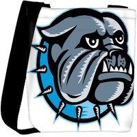 Snoogg Bulldog Dog Head Mascot Designer Womens Carry Around Cross Body Tote Handbag Sling Bags RPC-4070-SLTOBAG