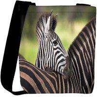 Snoogg Baby Zebra Designer Womens Carry Around Cross Body Tote Handbag Sling Bags RPC-9695-SLTOBAG