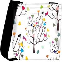 Snoogg Colorful Hearts Designer Womens Carry Around Cross Body Tote Handbag Sling Bags RPC-9797-SLTOBAG